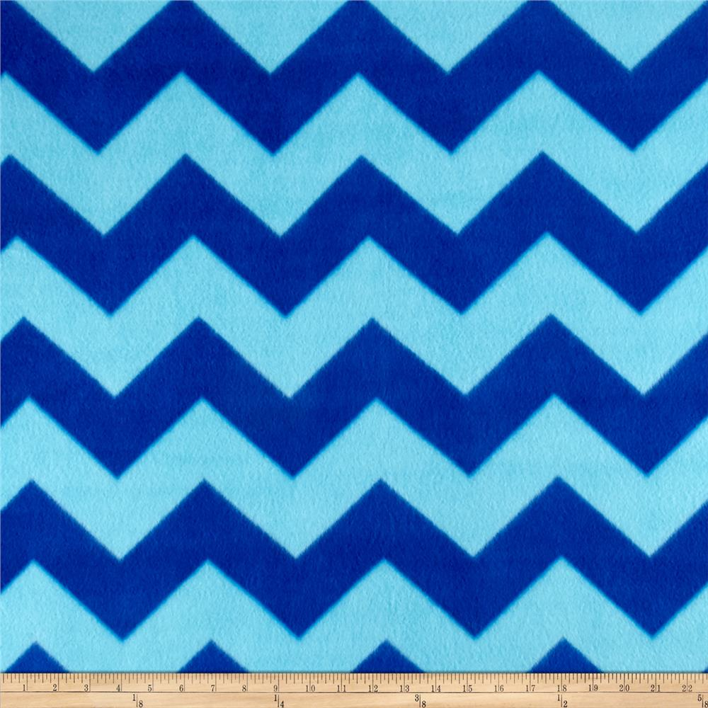 Fleece Chevron Print Royal