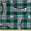 NFL Fleece Plaid Philadelphia Eagles Green