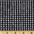 Flannel Gingham Check Black/White