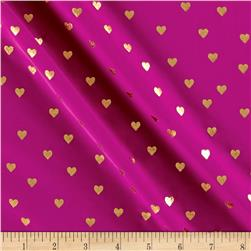 St. Maarten Swimwear Knit Allover Hearts Purple/Gold