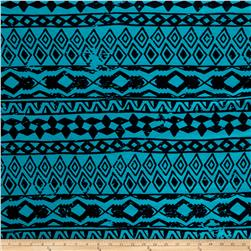 Fashion Jersey Knit Abstract Turquoise