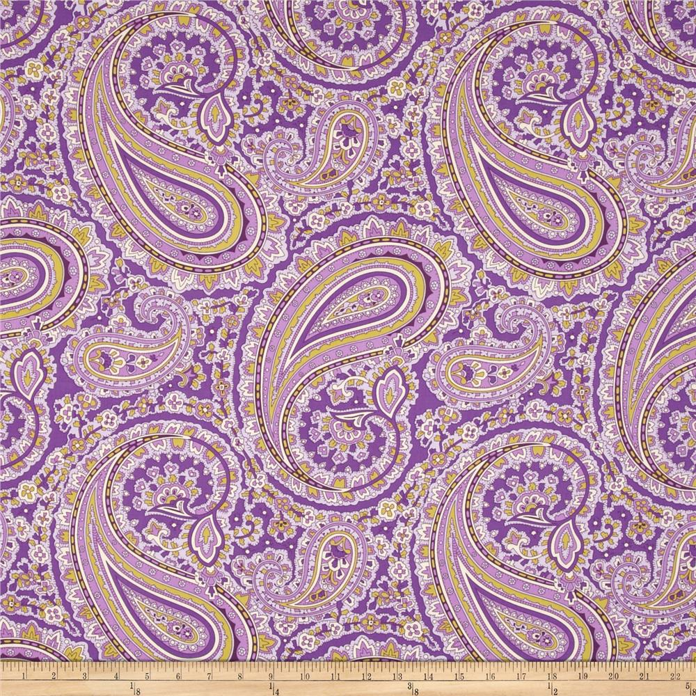 April Cornell Glorious Garden Patient Paisley Purple