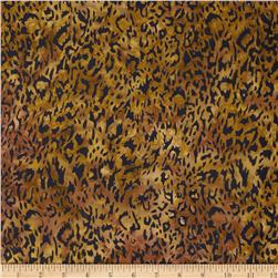 Timeless Treasures Tonga Batik Nairobi Animal Print Amber