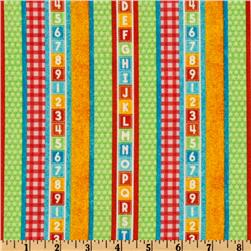 Sesame Street Alphabet Stripes Multi