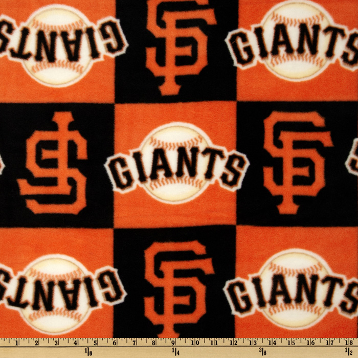 MLB Fleece San Francisco Giants Blocks Orange/Black Fabric