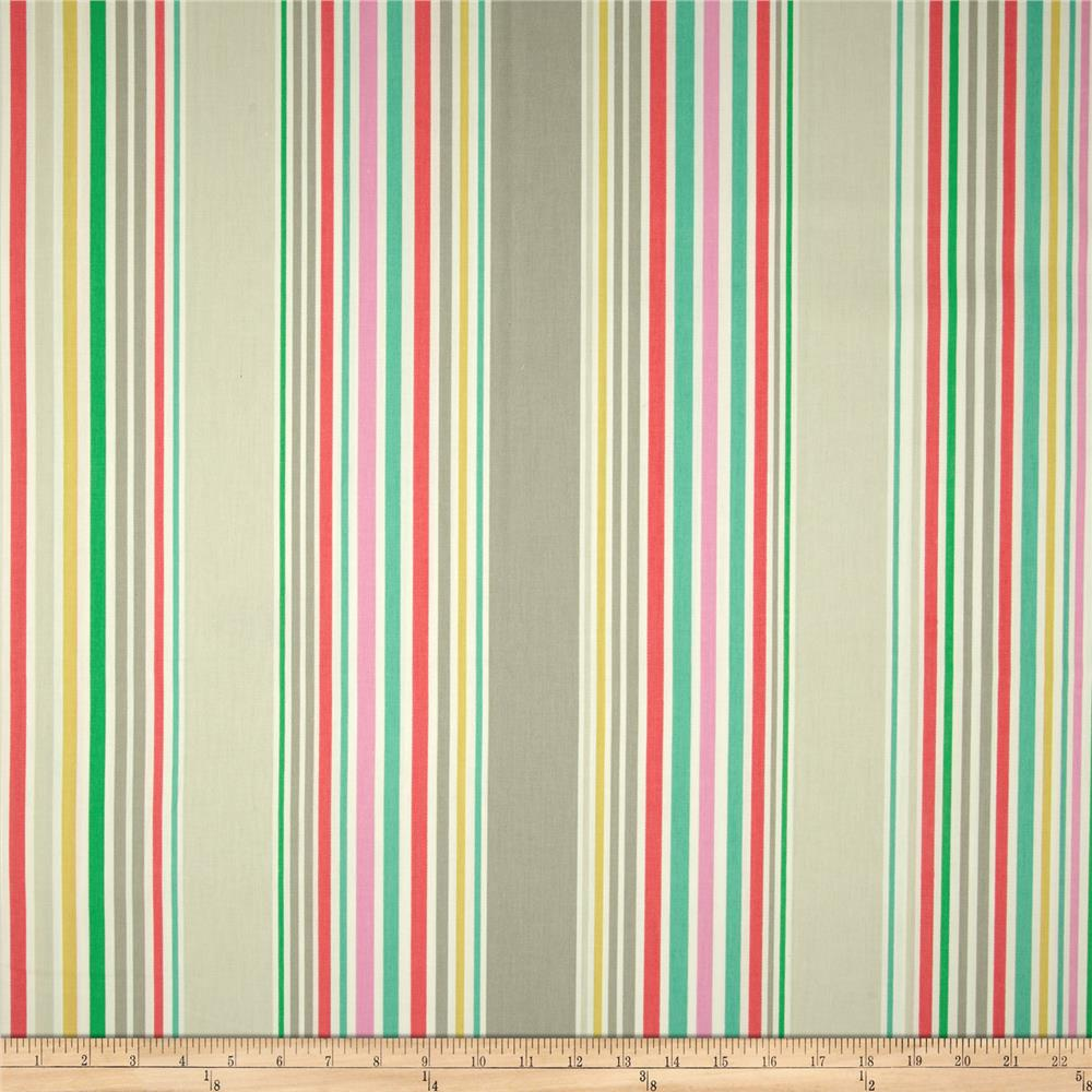 P Kaufmann Nautical Stripe Twill Zinc