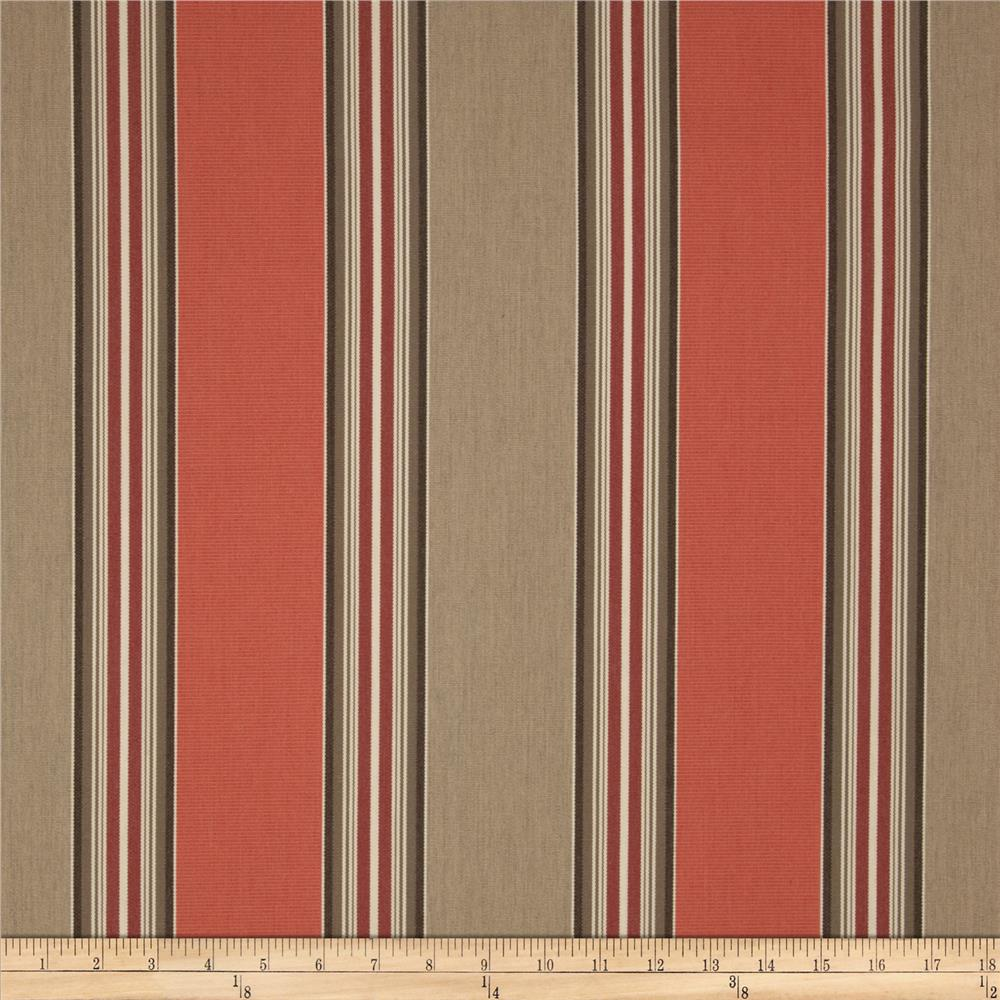 Sunbrella Outdoor Passage Stripe Poppy