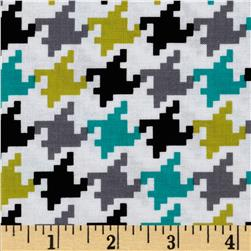 Michael Miller Everyday Houndstooth Lagoon Fabric