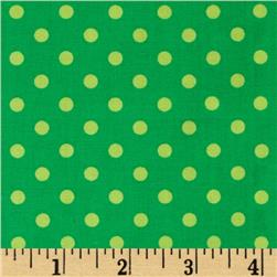 Michael Miller Dumb Dot Sorbet Sprout Green Fabric