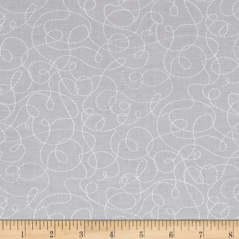 Ink & Arrow Little Buggers Dotted Scroll Gray Fabric by Quilting Treasures in USA