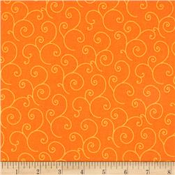 Maywood Studio Kimberbell Basics Scroll Orange Tonal