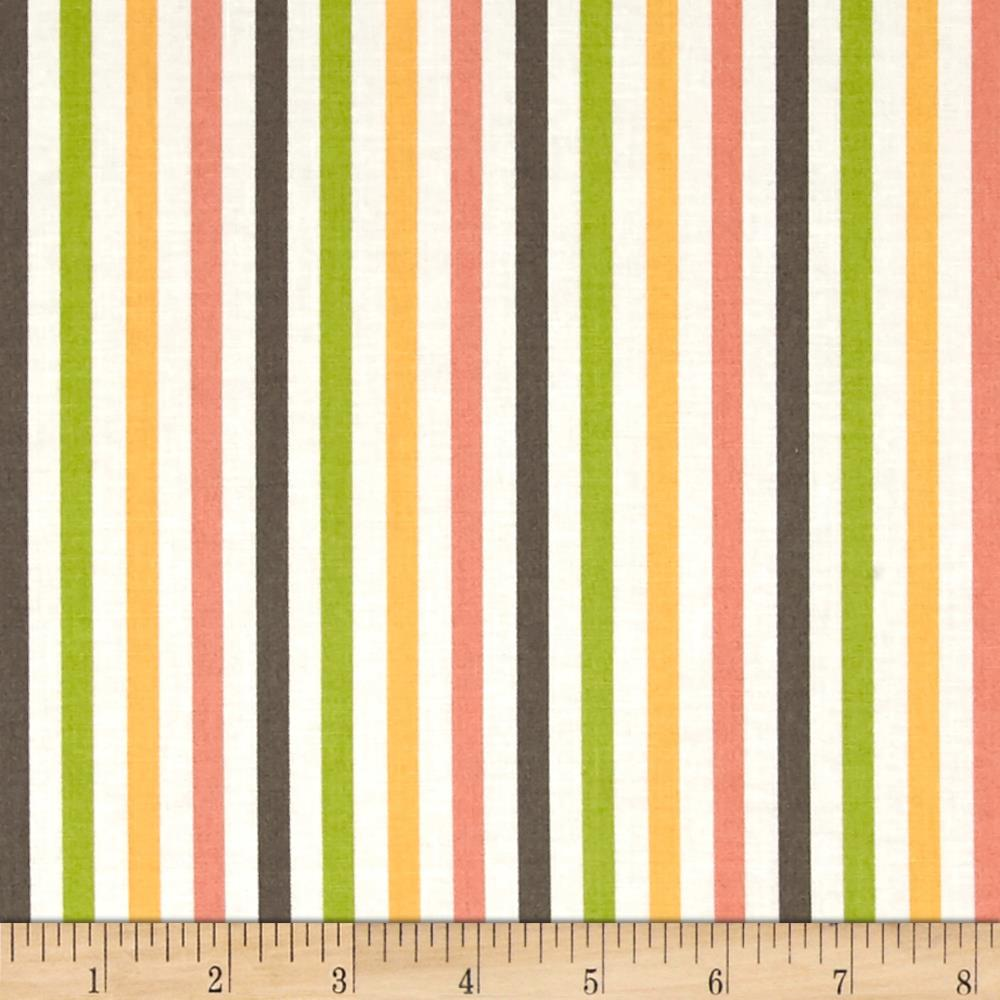 Moda Prairie Stripe Multi/White
