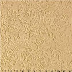 Minky Paisley Cuddle Embossed Camel Fabric