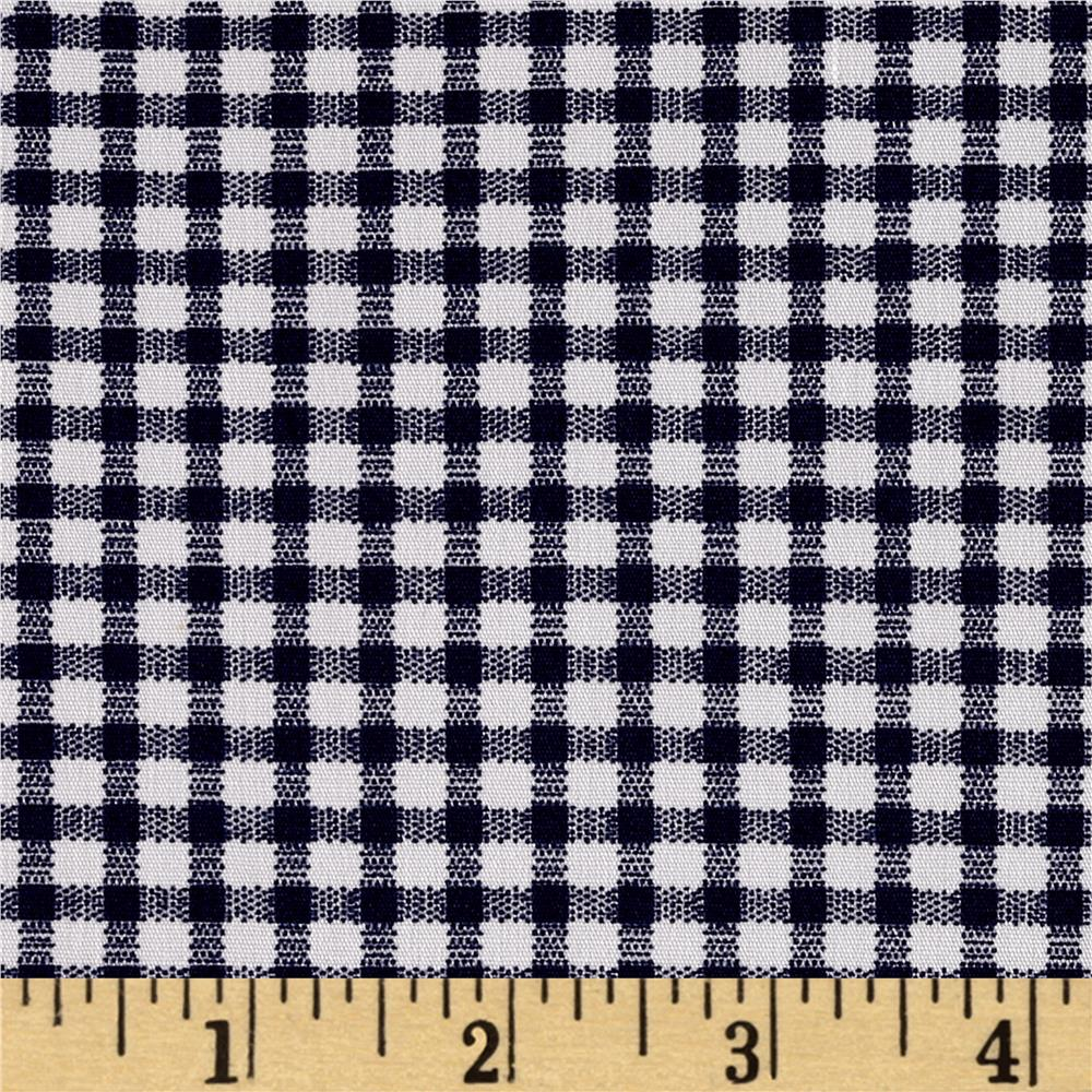 Telio morocco blues stretch cotton shirting gingham print for Gingham fabric