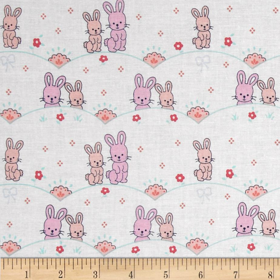 Michael Miller Cynthia Rowley Oh Baby Bunny Scallop Pink