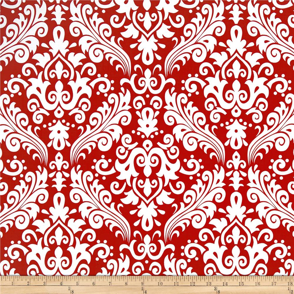 Riley Blake Large Damask Red