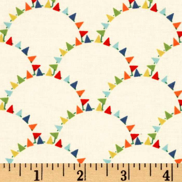 Michael Miller Mini Mikes Bunting Scallop Retro Fabric