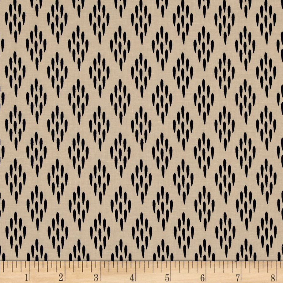 Moda Valley Wheat Field Bisque-Navy Fabric by Moda in USA