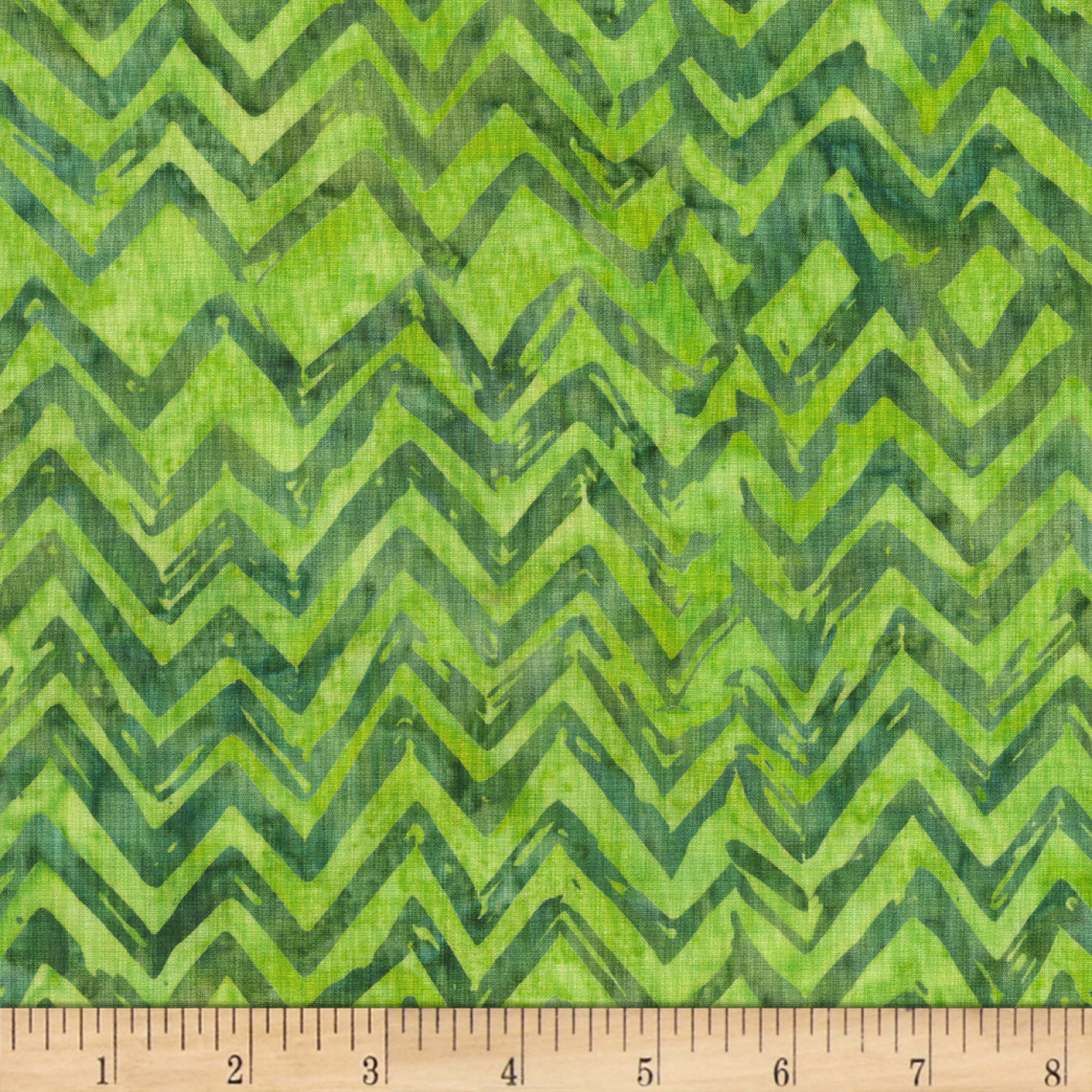 Anthology Batiks Chevron Matcha Fabric