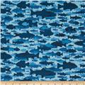 Timber Lodge Flannel Camo Fish Lake Blue