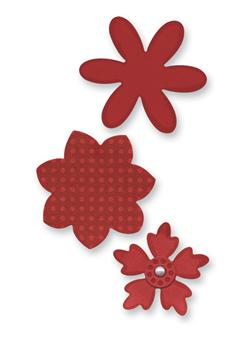 Sizzix Sizzlits Die Set 3PK Flower Layers Set