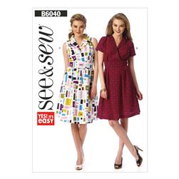 Butterick Misses' Dress Pattern B6040 Size 0A0