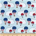 Storybook Americana Hot Air Ballons Blue