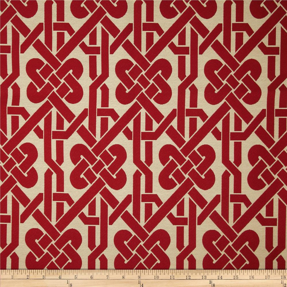 Robert Allen Promo Twisted Knot Jacquard Lacquer Red