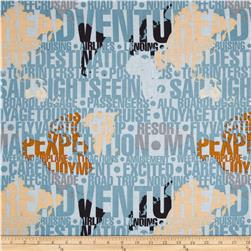 Riley Blake Detour Destination Grey Fabric
