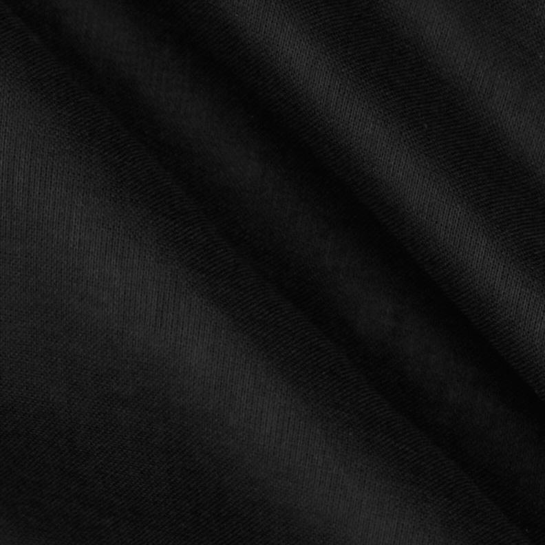 100% Organic Cotton Voile Black
