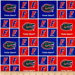Collegiate Cotton Broadcloth University of Florida Orange Fabric