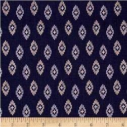 Kaleidoscope Ikat Dark Blue