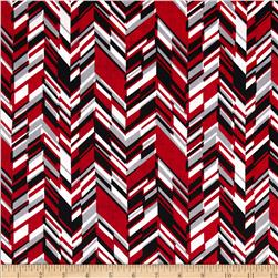 And Sew On Chevron Black/Red