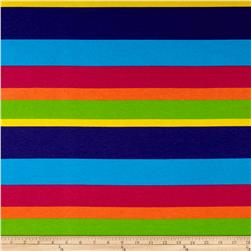 Cotton/Lycra Spandex Jersey Knit Rainbow Stripe