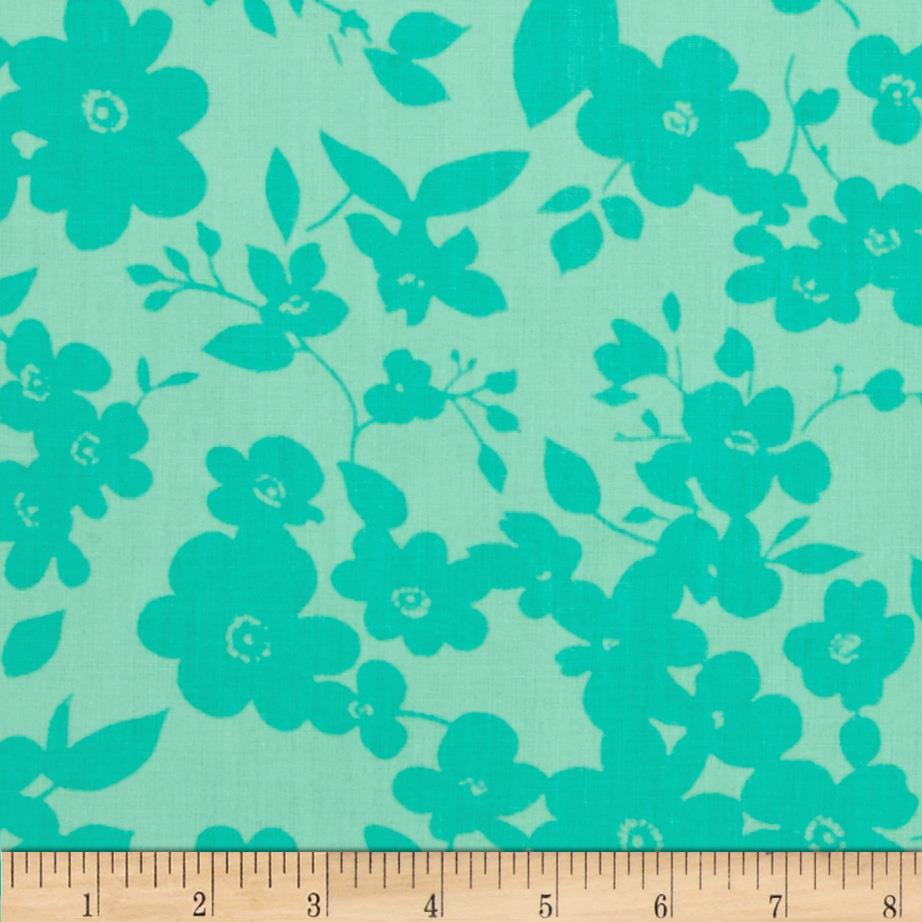 "108"" Wide Quilt Back Daisies Jade"