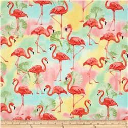 Robert Kaufman Flamingo Paradise Flamingos Tropical