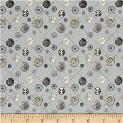 Vintage Modern Buttons Grey