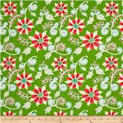 Dena Designs Winterland Poinsettia Green