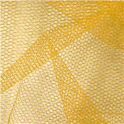 Nylon Netting Velium Gold Fabric
