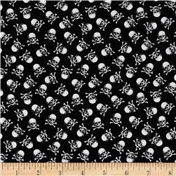 Timeless Treasures Back Skulls Black