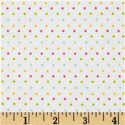 Riley Blake Swiss Dot White/Multi