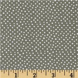 Mini Confetti Dot Charcoal Fabric