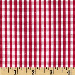 60'' Cotton Blend Woven 1/8'' Gingham Red