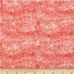 Under the Sea Starfish Tonal Red