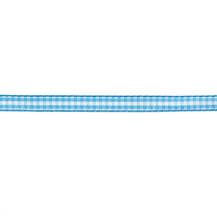 "1/4"" Yarn Dyed Checker Ribbon Light Blue"