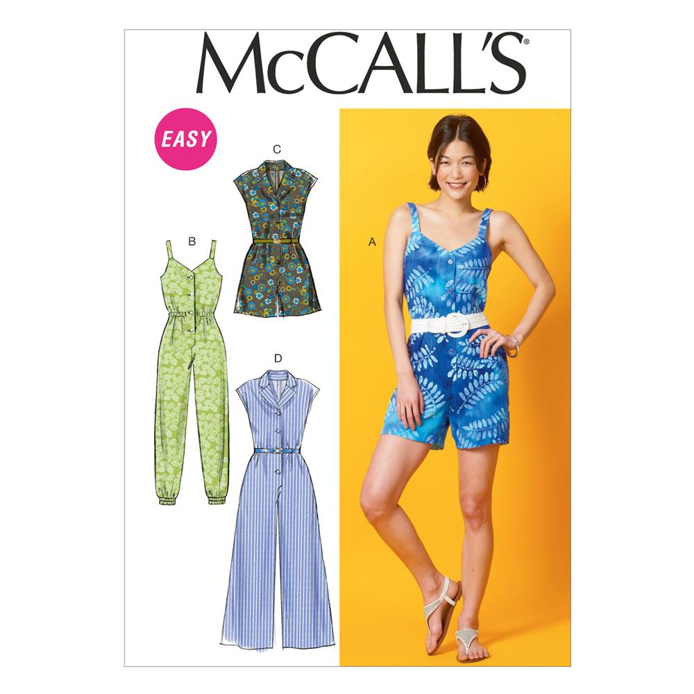 McCall's Misses' Rompers and Jumpsuits Pattern M6969 Size 0Y0
