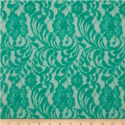 Floral Glitter Lace Light Mint
