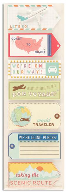 Martha Stewart Crafts Stickers Travel Tags