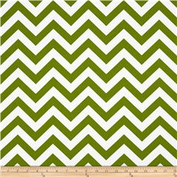 Premier Prints Indoor/Outdoor Zig Zag Bay Green