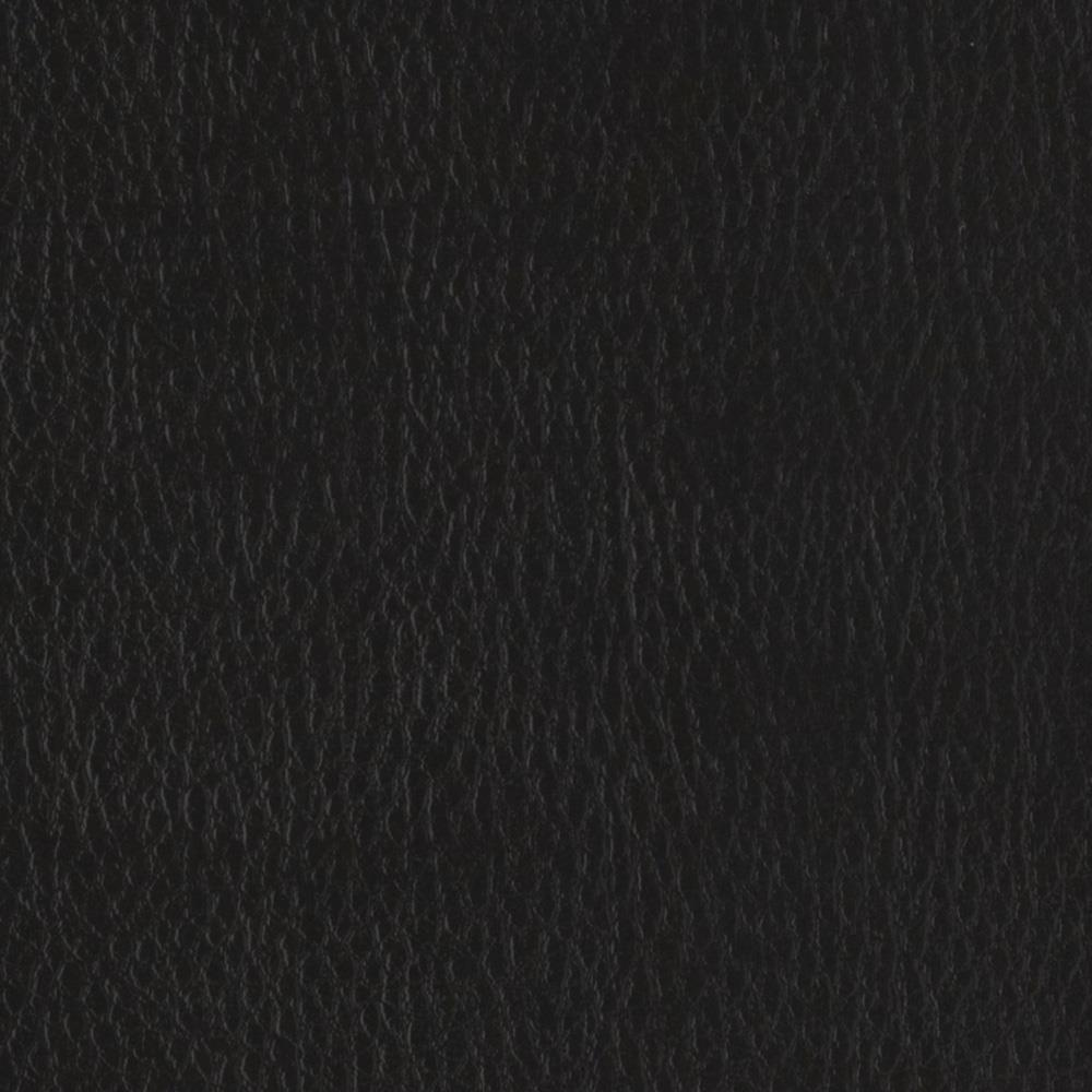 Flannel Backed Faux Leather Deluxe Black